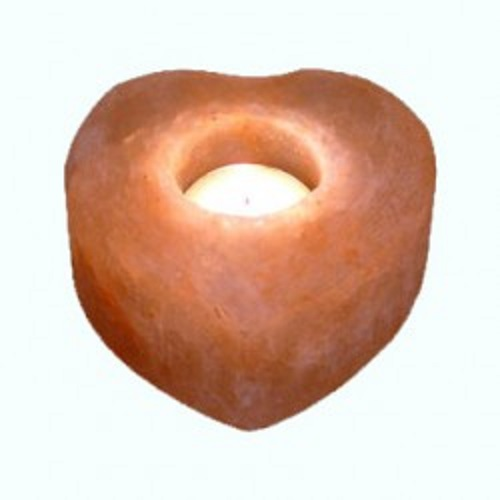 Himalayan Salt Heart Tealight